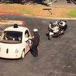 Беспилотный автомобиль остановили за нарушение ПДД
