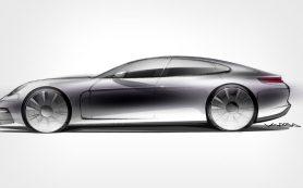 Компания Porsche показала силуэт новой «Панамеры»