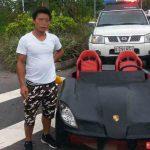 Полиция оштрафовала китайца за езду на самодельном Porsche