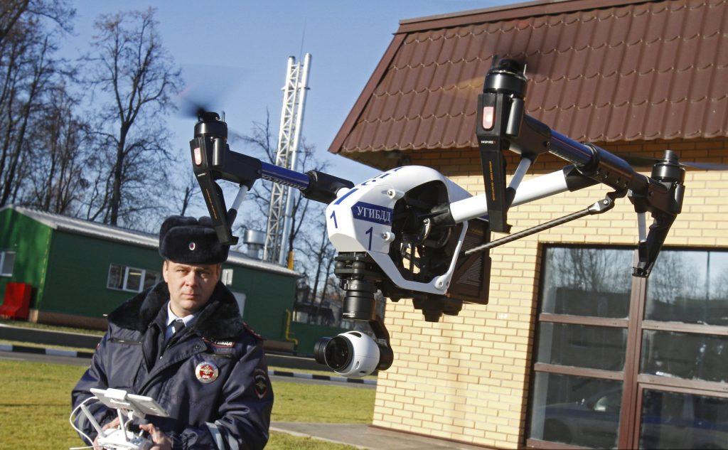 ГИБДД оштрафовала водителей с помощью квадрокоптера