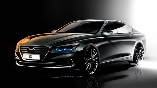 Hyundai принялась рассекречивать новое поколение Grandeur