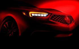 Acura показала первое изображение обновленного седана TLX