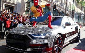 Новый седан Audi A8 показали публике на премьере «Человека-паука»