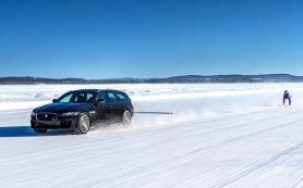 Jaguar установил мировой рекорд… по разгону лыжника