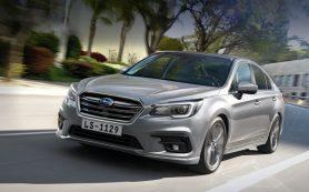 Новый седан Subaru Legacy появится в России весной