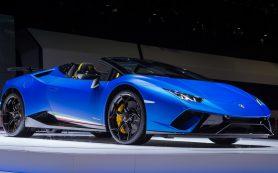 Раскрылась модель Lamborghini Huracan Performante Spyder