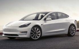 Седан Tesla Model 3: теперь с двумя электромоторами