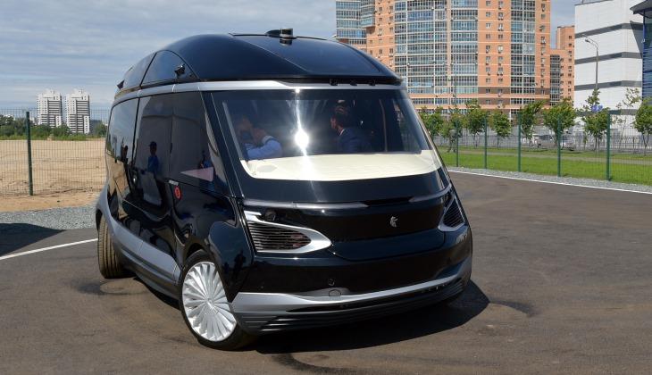 Модернизированный беспилотный электробус КамАЗ показали в Казани