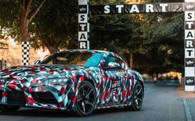 Возрожденная Toyota Supra получила камуфляж от военного линкора