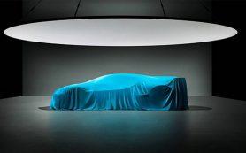 Bugatti показала силуэт гиперкара за 5 миллионов евро