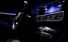 Mercedes показал салон электрического кроссовера