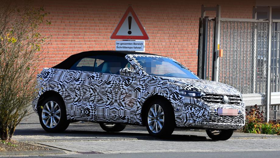 Модель Volkswagen T-Roc Cabrio построена близкой к концепту