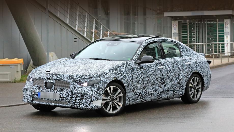 Cедан Mercedes-Benz C-класса вышел на дорожные тесты