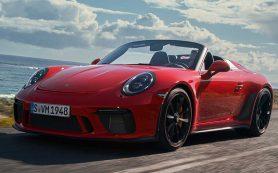 Новый Porsche 911 стал спидстером