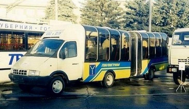 Экспериментальный автобус-гармошка «Газель» из Саратова