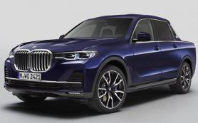 Стажёры BMW превратили большой кроссовер X7 в пикап