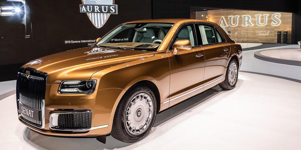 В Минпромторге назвали стоимость седана Aurus Senat
