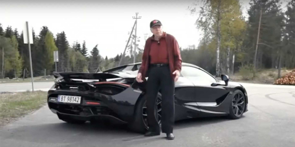 78-летний норвежец купил суперкар McLaren для ежедневных поездок