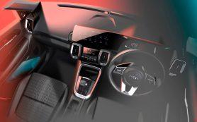 Kia рассекретила интерьер нового компактного кроссовера