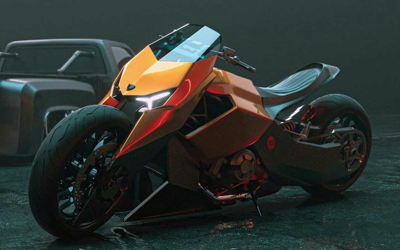 Мотоцикл Lamborghini: вот так он может выглядеть