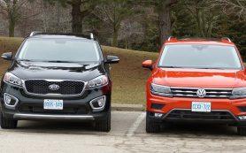 Сколько стоит качество и безопасность? Kia Sorento и Volkswagen Tiguan