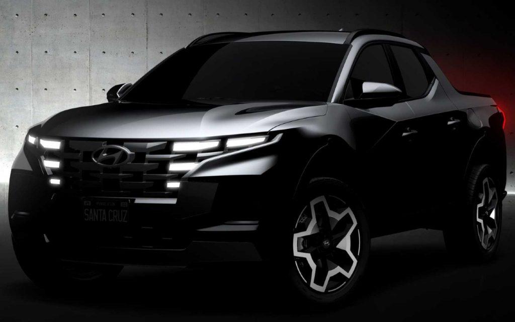 Hyundai опубликовал первые изображения нового пикапа